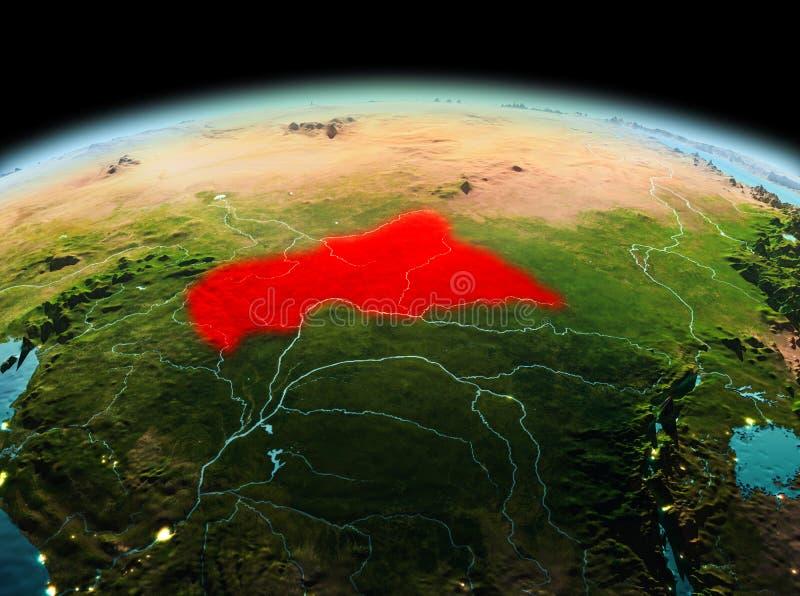 África central na terra do planeta no espaço ilustração royalty free