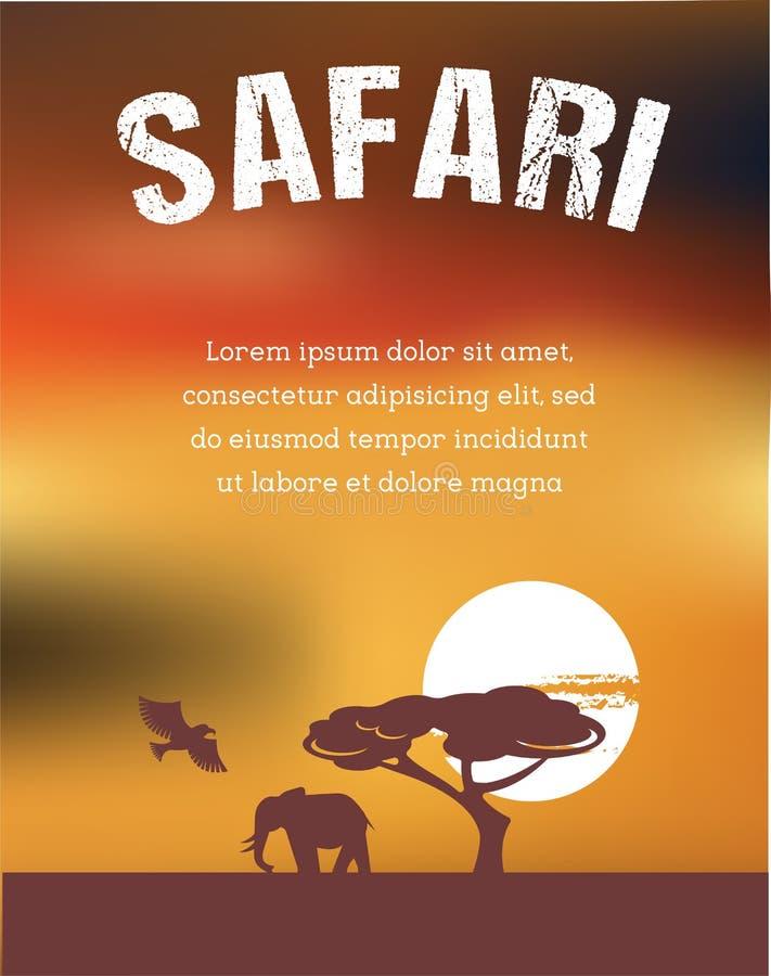 África, diseño del cartel del safari libre illustration