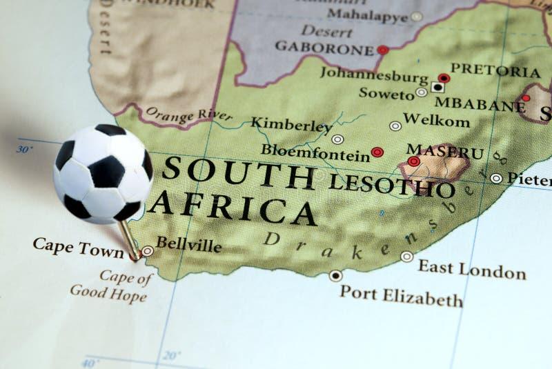 África do Sul no mapa fotografia de stock royalty free