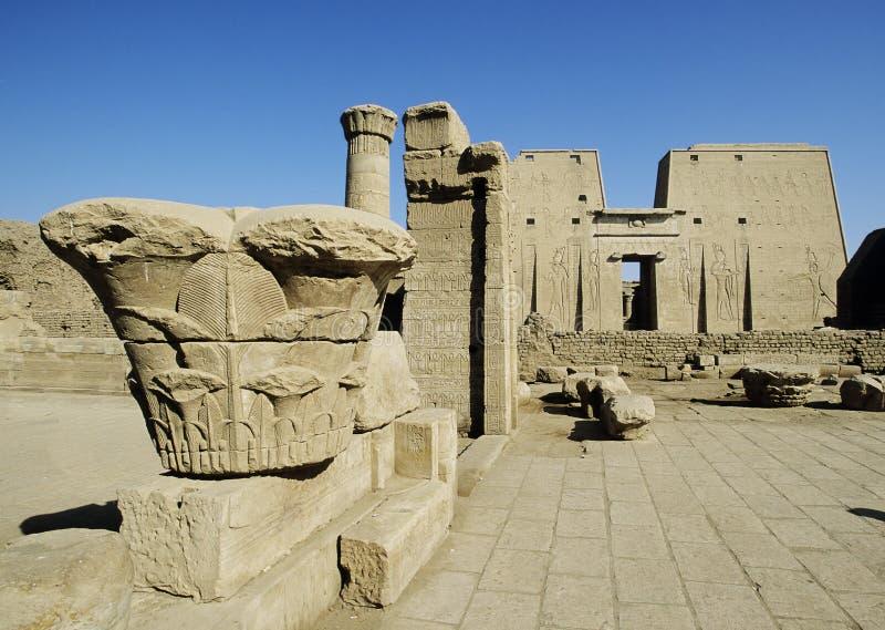 África, Egipto, templo do horus no edfu imagem de stock