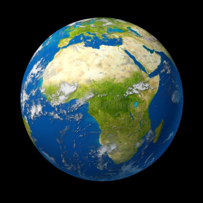 África en el globo stock de ilustración