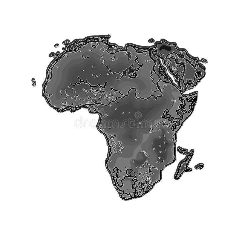 África en la noche como vector del grabado ilustración del vector