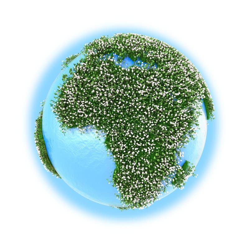 Download África En La Tierra Del Planeta Stock de ilustración - Ilustración de ilustración, azul: 42436565
