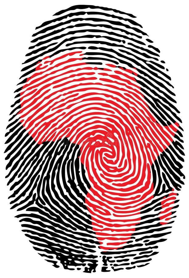 África-huella digital ilustración del vector