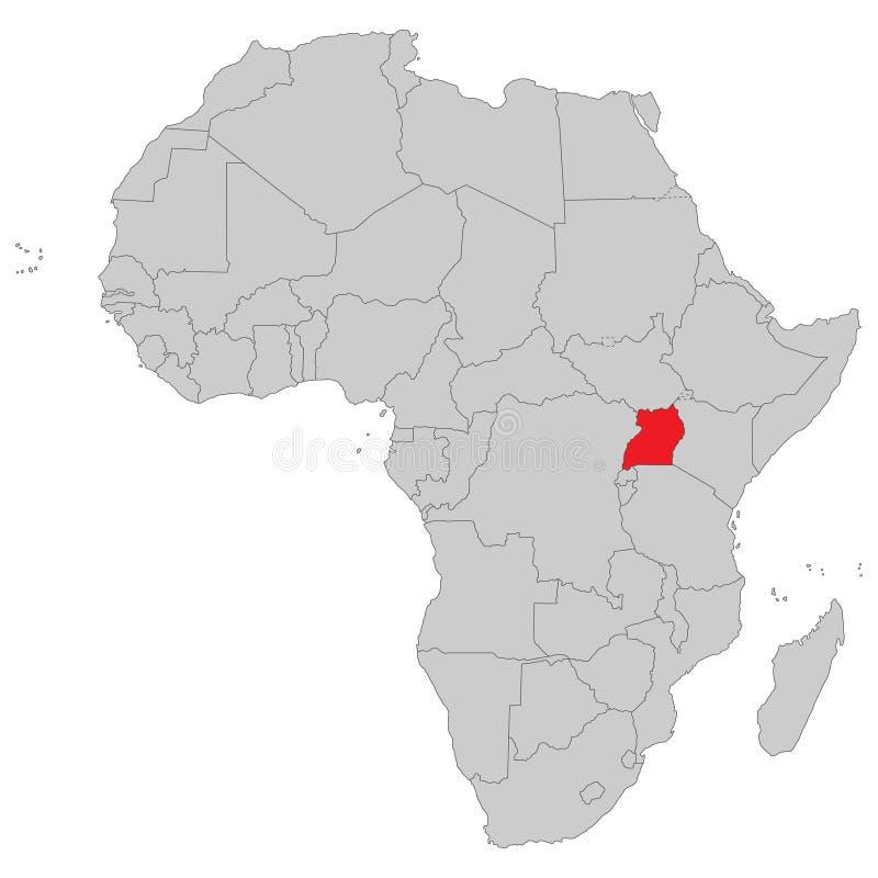 África - mapa político de África ilustração royalty free