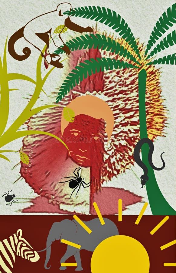 África selvagem, grafic, Ilustration fotos de stock