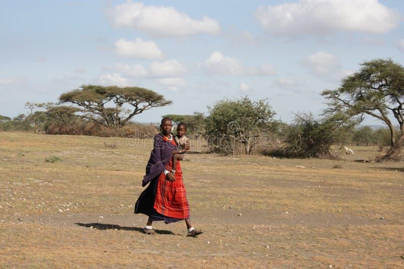 África, Tanzânia, masai das mulheres imagens de stock