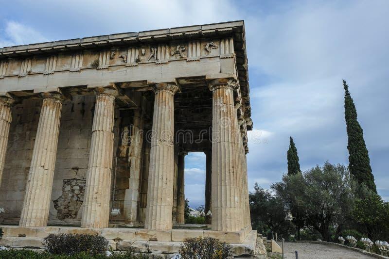 Ágora antiga em Atenas, Grécia imagens de stock royalty free