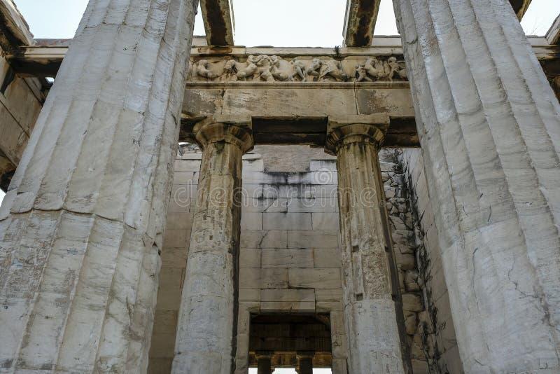 Ágora antiga em Atenas, Grécia imagens de stock