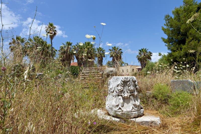 A ágora antiga na ilha de Kos em Grécia fotografia de stock