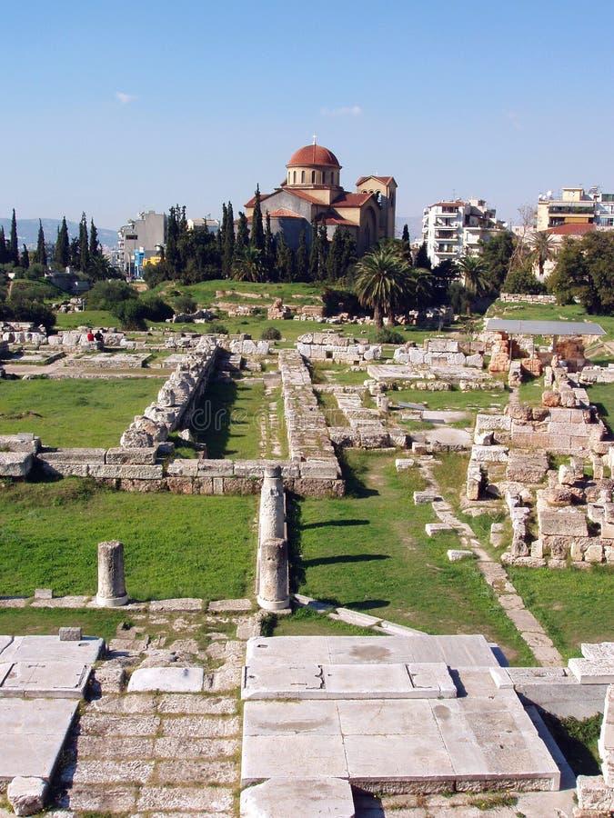 Ágora - Atenas, Greece fotos de stock royalty free