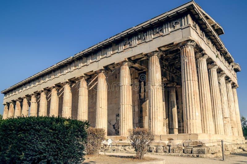 Ágora, templo de Hephaestus em Atenas foto de stock