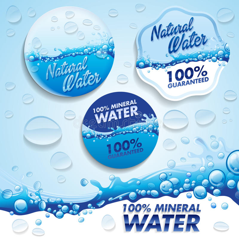 Água ilustração stock