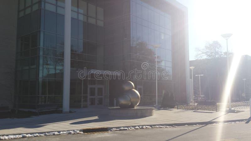Água Atom Sculpture foto de stock