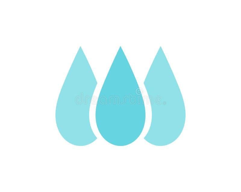 A ?gua azul deixa cair o ?cone ou o logotipo ilustração royalty free