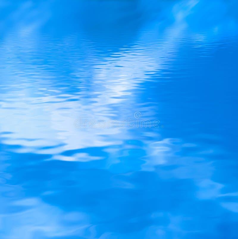 Água azul enevoada ilustração do vetor