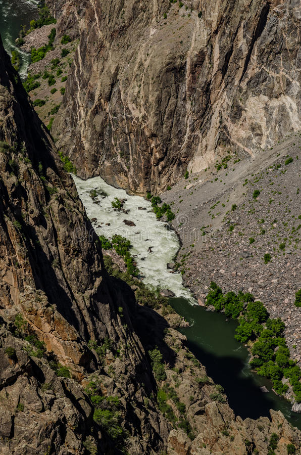 Água branca no rio de Gunnison imagens de stock