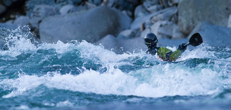 Água branca que kayaking foto de stock royalty free