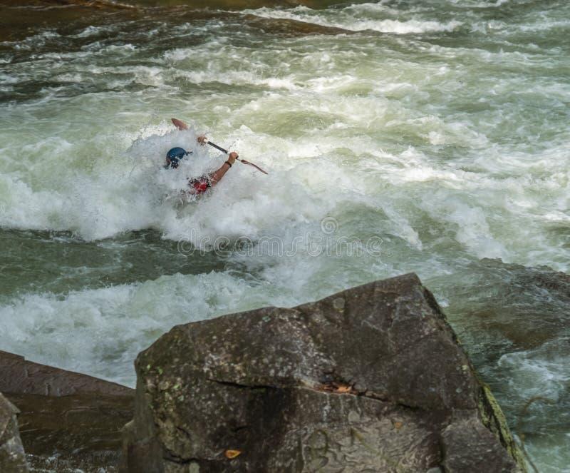 Água branca Rifting fotos de stock