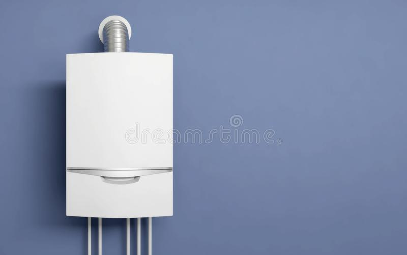 Água 3D do calefator de gás da caldeira ilustração do vetor