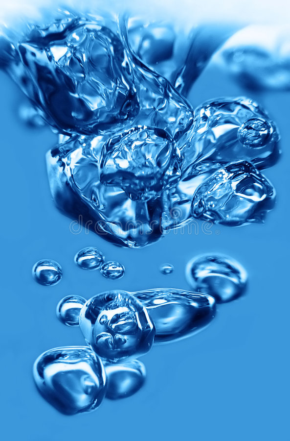 Água da bolha imagens de stock