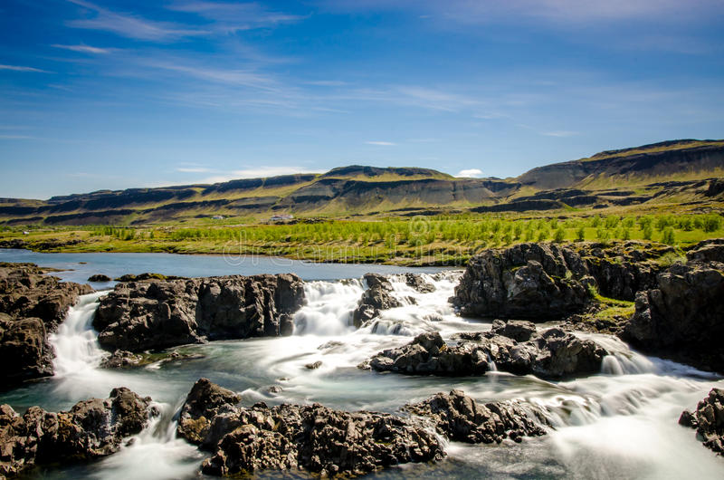 Água da geleira de Islândia fotos de stock royalty free