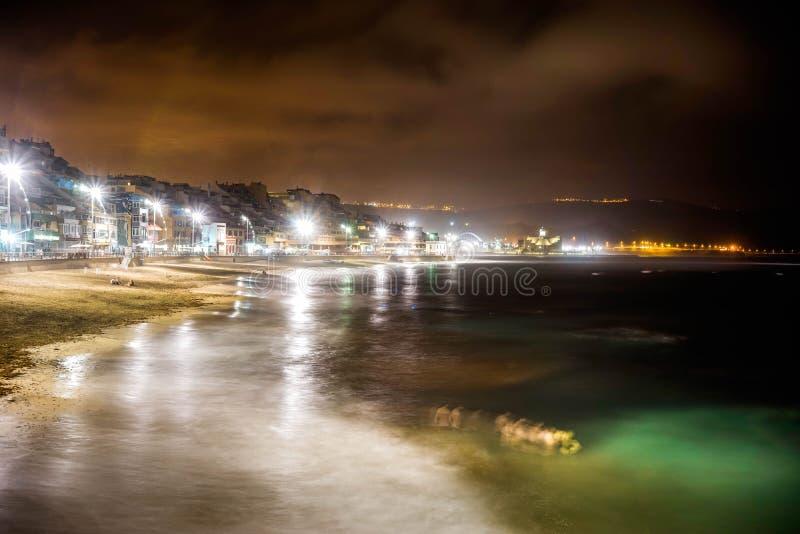 Água da noite fotos de stock