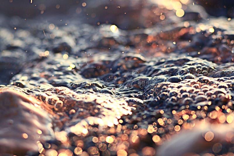 Água da textura da cor fotografia de stock royalty free