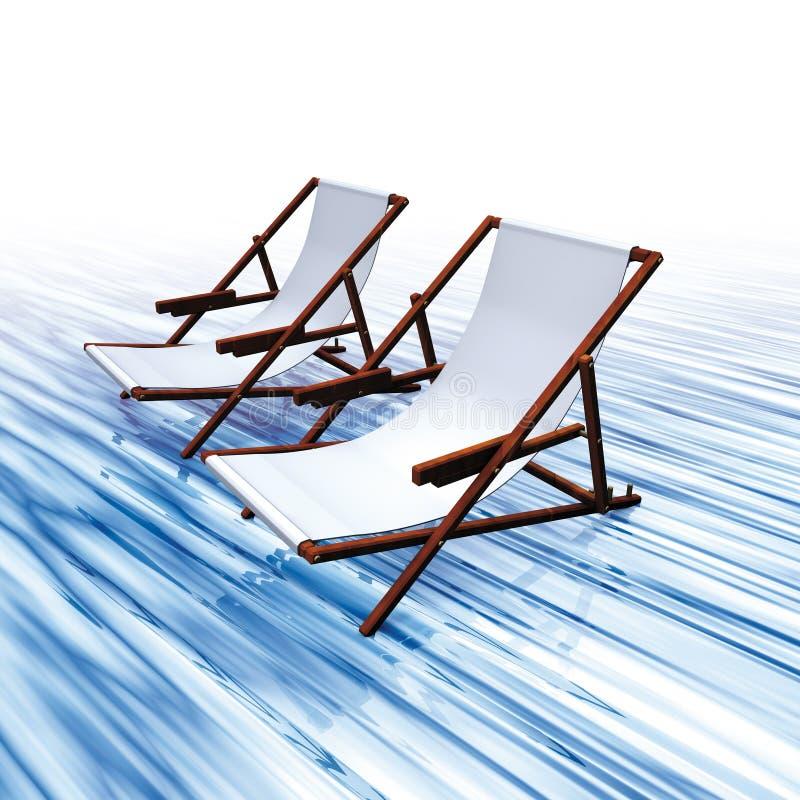 Água das cadeiras ilustração royalty free