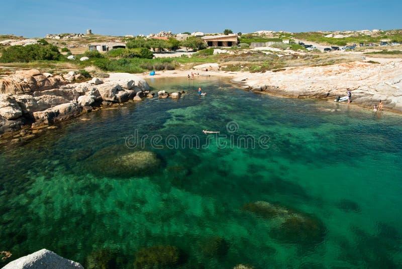 Água de Córsega (France) fotos de stock