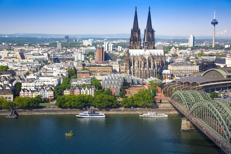 Água de Colônia em Alemanha fotos de stock
