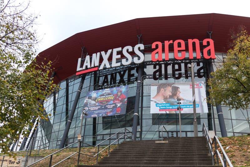 Água de Colônia, Reno-Westphalia norte/Alemanha - 24 10 18: estádio da arena dos lanxess na água de Colônia Alemanha imagens de stock royalty free