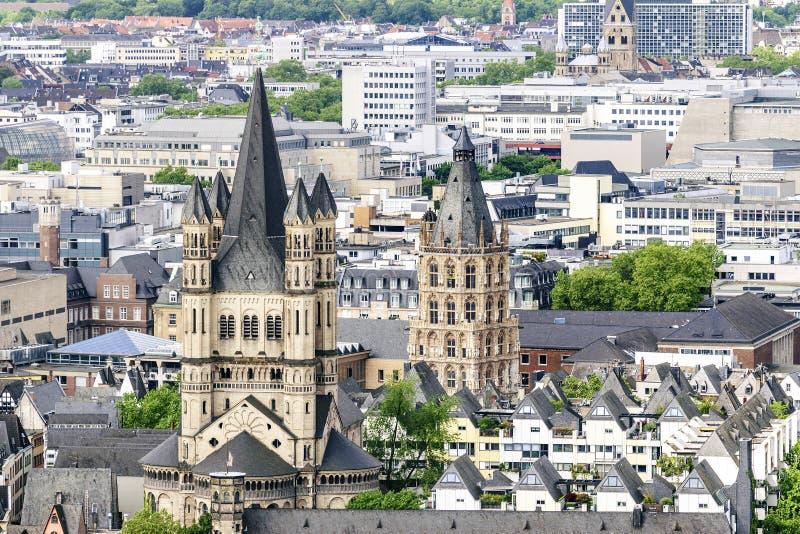 Água de Colônia da arquitetura da cidade fotos de stock