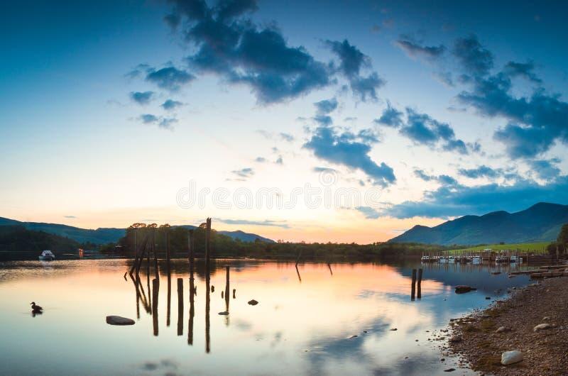 Água de Derwent, distrito do lago imagens de stock