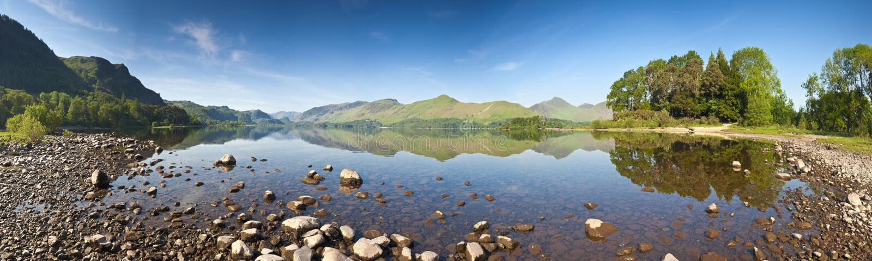 Água de Derwent, distrito do lago, Reino Unido fotografia de stock royalty free