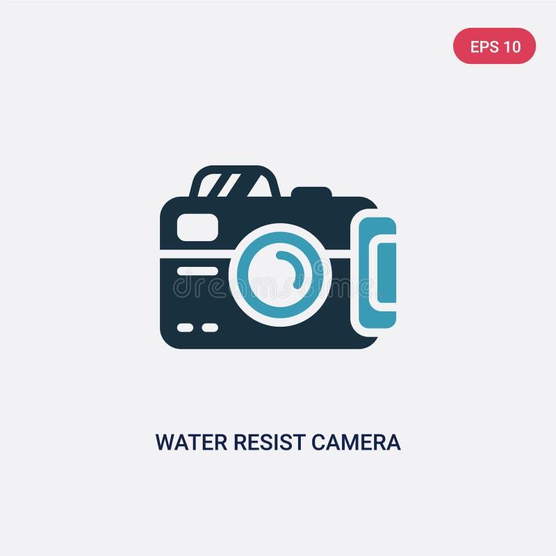 A água de duas cores resiste o ícone do vetor da câmera do conceito náutico a água azul isolada resiste o símbolo do sinal do vet ilustração do vetor