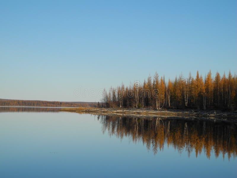 Água de superfície do espelho fotografia de stock