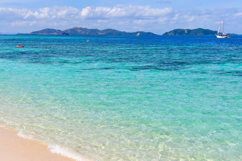 Download Água De Turquesa Em Mana Island, Fiji Imagem de Stock - Imagem de exotic, beachcomber: 80101185