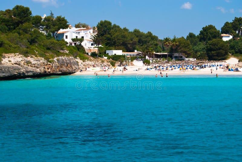 Água de Tursquoise do mar em Cala Romantica fotografia de stock royalty free