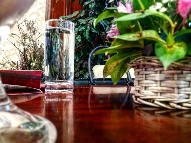 Água de vidro fotos de stock