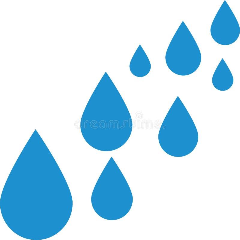A água deixa cair o azul ilustração stock