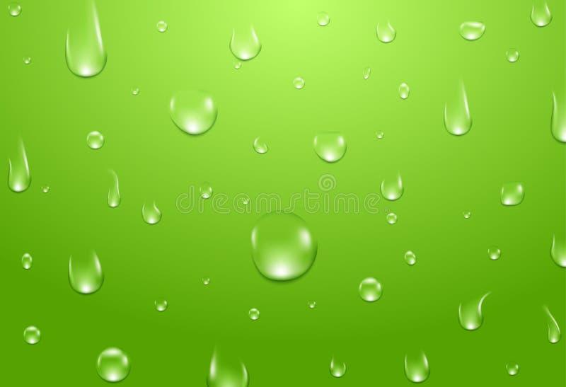 A água deixa cair o fundo Aqua fresco ou conceito natural saudável ilustração stock