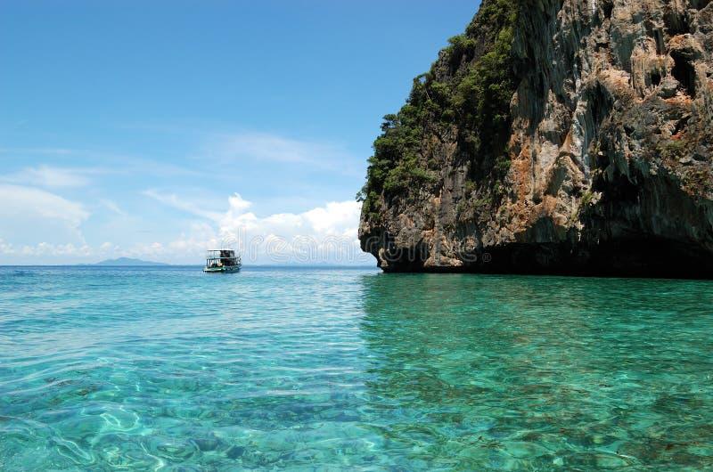 Água desobstruída de turquesa do Oceano Índico fotografia de stock royalty free