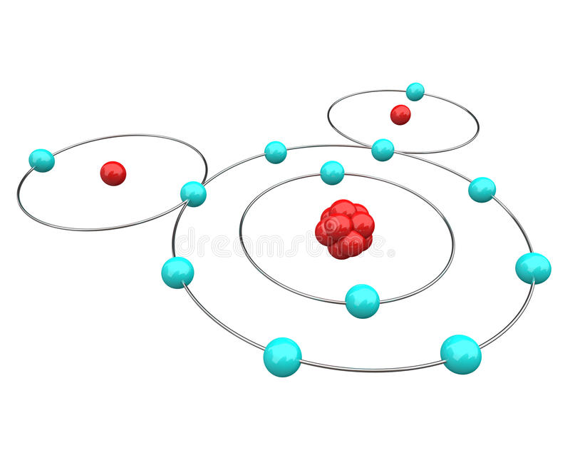 Água - diagrama atômico de H2O ilustração royalty free