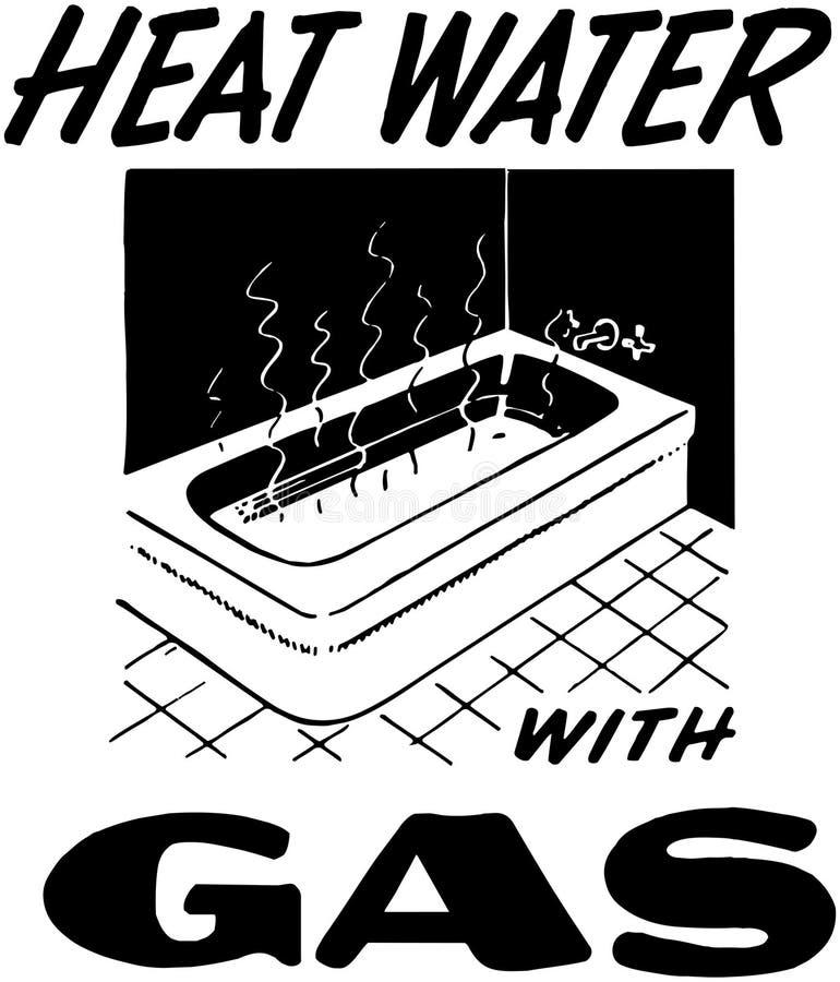 Água do calor com gás ilustração do vetor