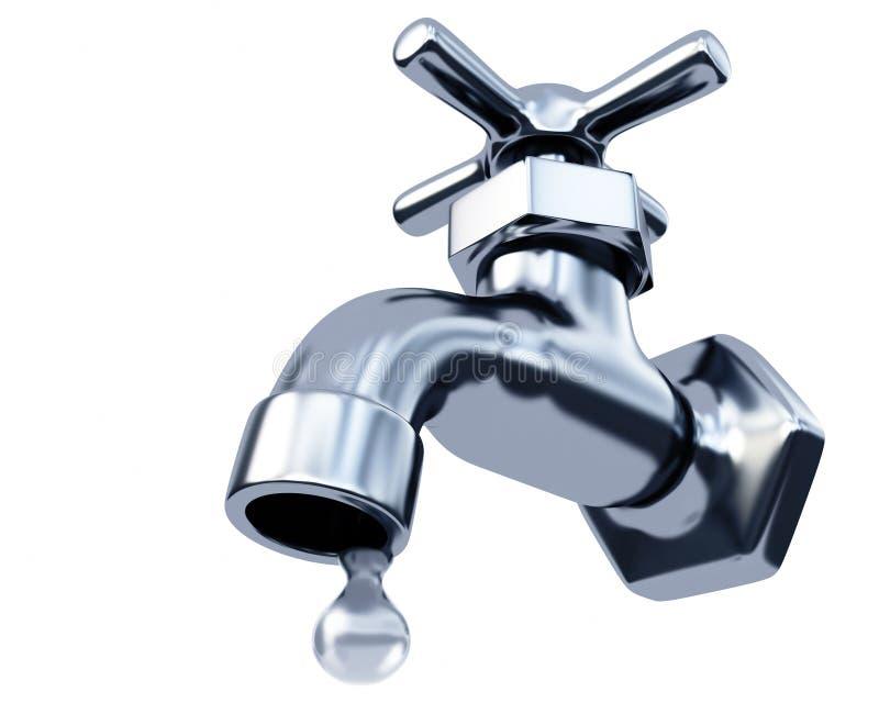 Água do Faucet ilustração royalty free