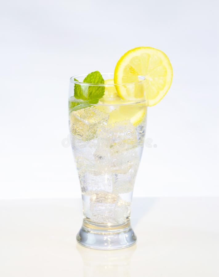 Água do limão fotos de stock