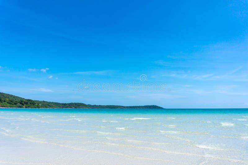 Água do mar de Koh Kood, mar de Tailândia fotografia de stock royalty free
