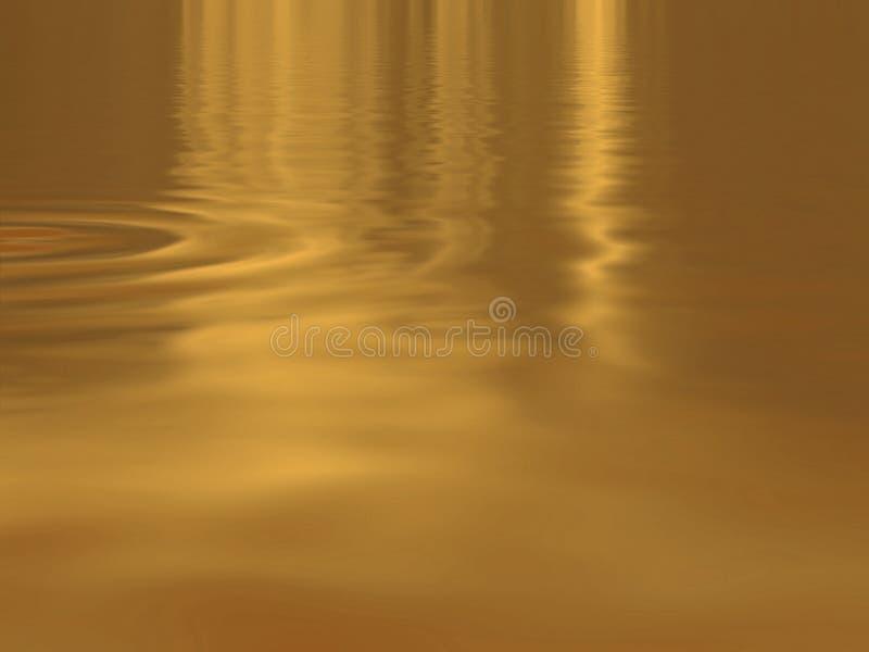 Água do ouro ilustração do vetor