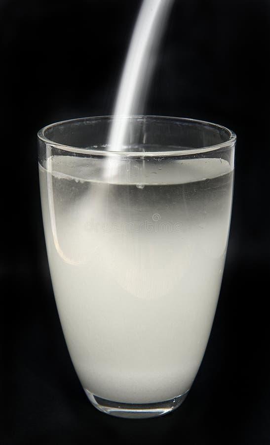 Água e açúcar fotografia de stock